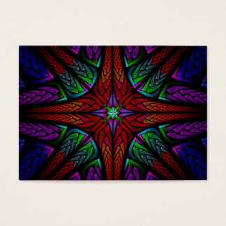 Stained glass red cross business card
