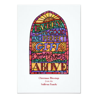 Stained Glass Religious Non-Photo Holiday Card