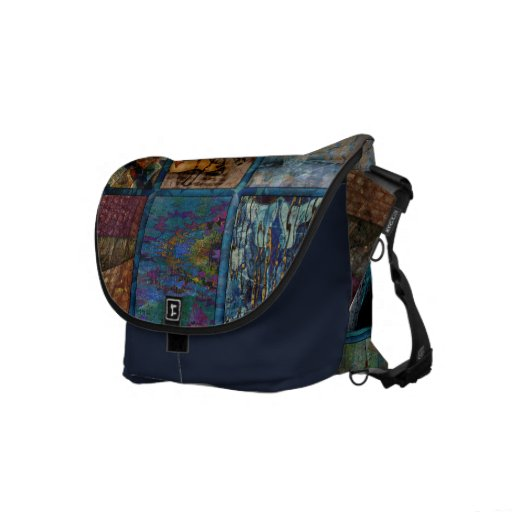 Stained Glass Remover Messenger Bags