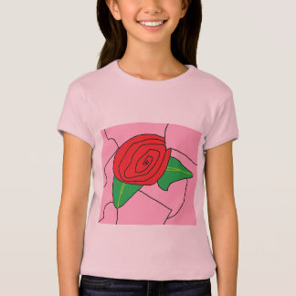 Stained Glass Rose (Copyright) T-Shirt