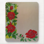 Stained Glass Rose Mouse Pad
