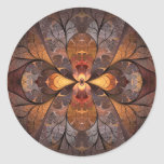 Stained Glass Round Stickers