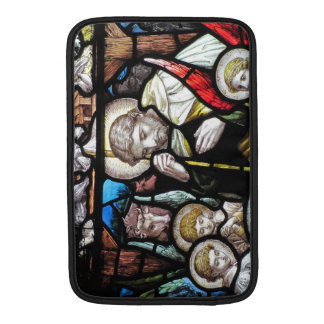 Stained Glass Saint MacBook Sleeves