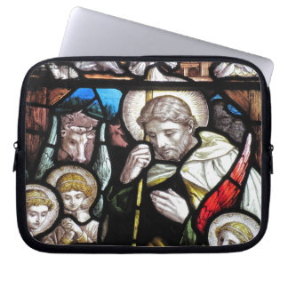 Stained Glass Saint Laptop Computer Sleeve