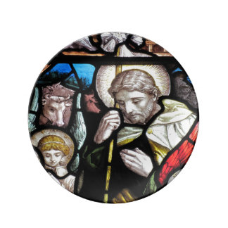 Stained Glass Saint Porcelain Plates