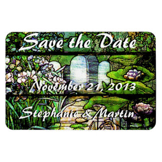 Stained Glass Save the Date Magnet