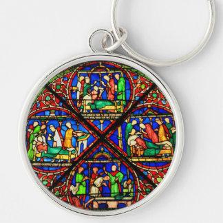 Stained Glass Scene Keychain