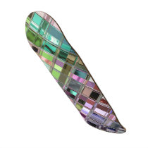 Stained Glass Shiney Mosaic Pattern Skateboard Deck