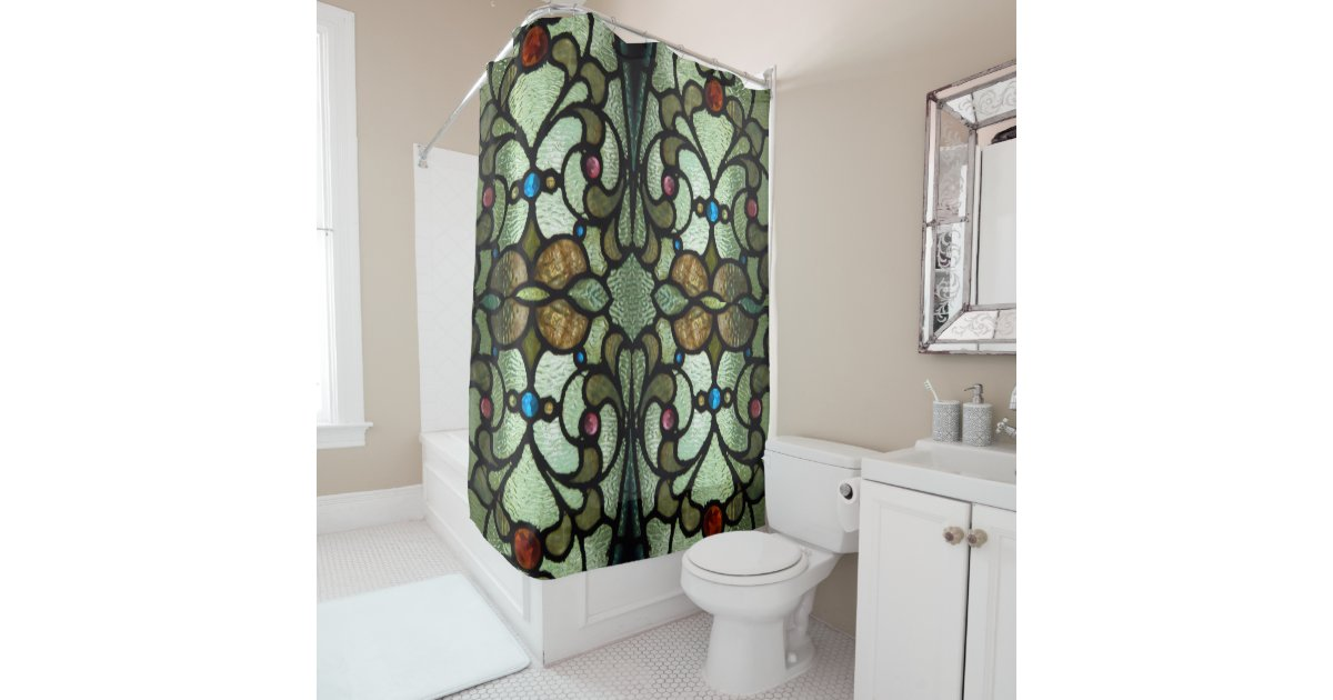 Stained Glass Shower Curtain | Zazzle.com