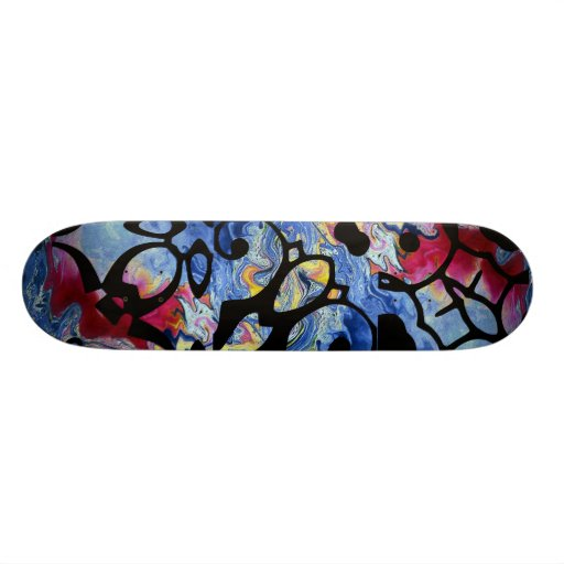 Stained glass skate board