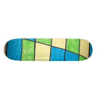 Stained-Glass Skateboard
