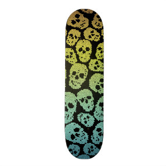 Stained Glass Skull skateboard