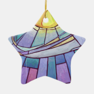 Stained Glass Sky Ceramic Ornament