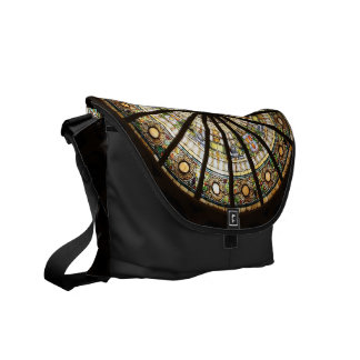 Stained Glass Sphere Courier Bag