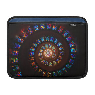 Stained Glass Spiral Window MacBook Air Sleeve