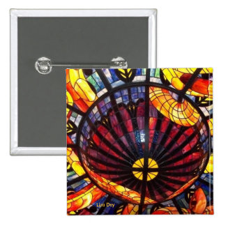 'Stained Glass'  Square Button