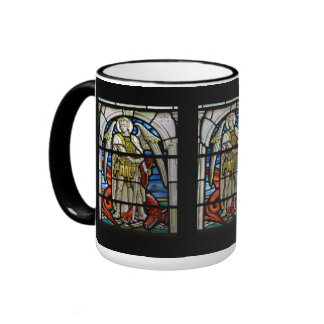 Stained Glass St Michael Helston Cornwall England Ringer Coffee Mug