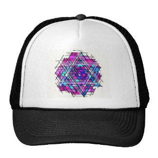 Stained Glass Star of David. Hat