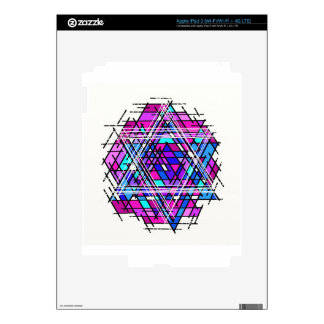 Stained Glass Star of David iPad 3 Skins