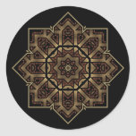 stained glass star round stickers