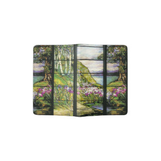 Stained Glass Stream Floral Passport Holder