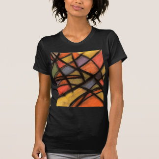 Stained Glass Style Abstract Art T Shirt