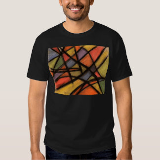 Stained Glass Style Abstract Art Tee Shirt