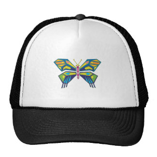 stained glass style butterfly design trucker hat