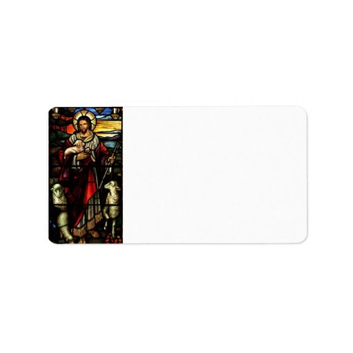 Stained Glass Style Jesus Address Labels