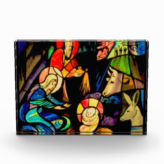 Stained Glass Style Nativity Awards