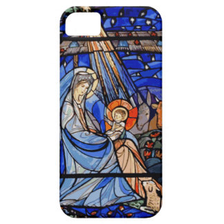 Stained Glass Style Nativity iPhone 5 Cases