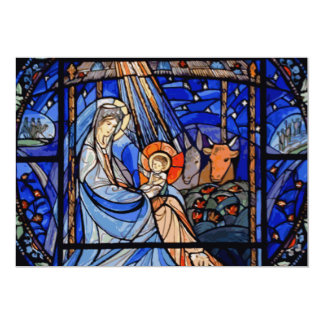 Stained Glass Style Nativity Invite