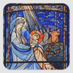 Stained Glass Style Nativity Stickers