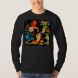Stained Glass Style Nativity T-Shirt
