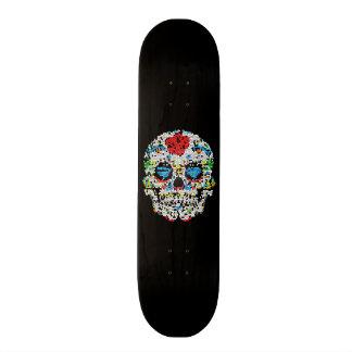 Stained Glass-Sugar Skull Skateboard