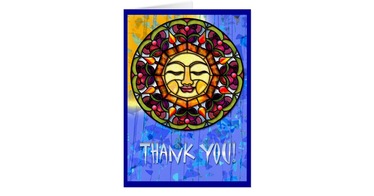 Stained Glass Sun-Catcher (Thank You) Card | Zazzle.com