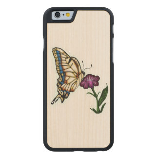 Stained Glass Swallowtail Butterfly Carved® Maple iPhone 6 Slim Case