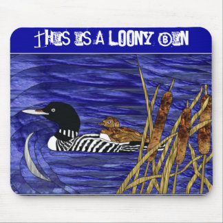 Stained Glass - This is a Loony Bin Mouse Pad