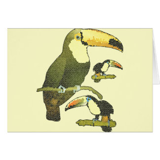 Stained Glass Toucan Greeting Card
