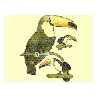 Stained Glass Toucan Postcard