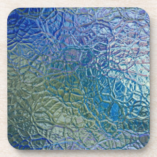 Stained glass, transparent colorful shiny window beverage coaster