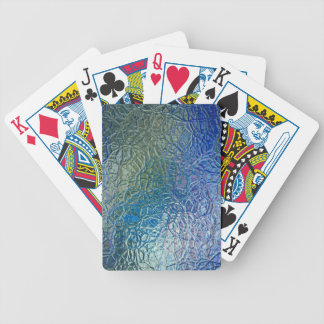 Stained glass, transparent colorful shiny window bicycle playing cards