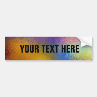 Stained glass, transparent colorful shiny window bumper sticker