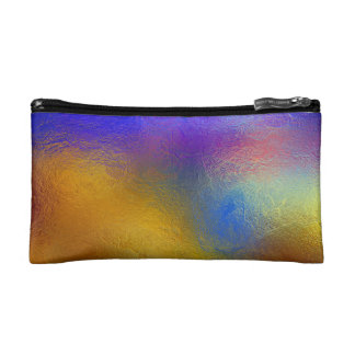 Stained glass, transparent colorful shiny window cosmetic bag