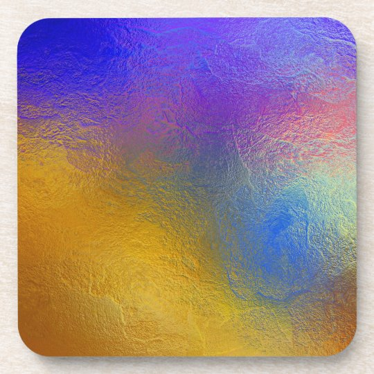 Stained glass, transparent colorful shiny window drink coaster
