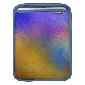 Stained glass, transparent colorful shiny window iPad sleeves