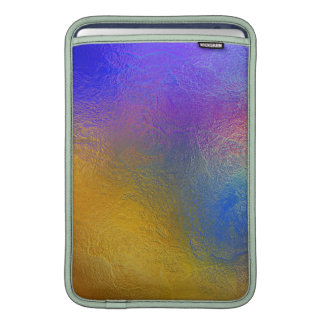 Stained glass, transparent colorful shiny window MacBook sleeve
