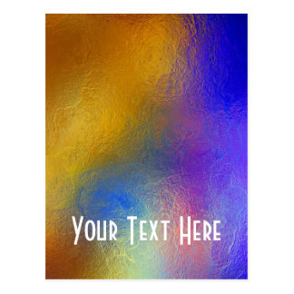 Stained glass, transparent colorful shiny window postcard