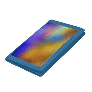 Stained glass, transparent colorful shiny window tri-fold wallet