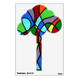 Stained glass Tree wall decal
